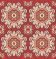 seamless doodle pattern ethnic motives cream and vector image vector image
