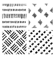 seamless hand drawn ink patterns vector image vector image