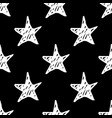 seamless star pattern hand drawn sketch stars vector image vector image