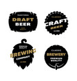 set brewing logo emblem vector image vector image