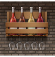 set of wine vector image vector image