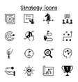 strategy planing icon set graphic design vector image vector image
