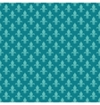 Teal fleur de lis seamless pattern vector image