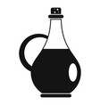 traditional olive oil bottle icon simple style vector image