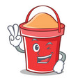 two finger bucket character cartoon style vector image