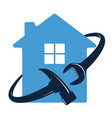 wrench and hammer home repair symbol vector image vector image