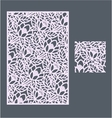 The template pattern for decorative panel3 vector image