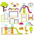 children playground kids time vector image