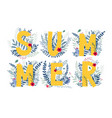 floral word summer vector image