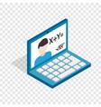 online education school webinar isometric icon vector image