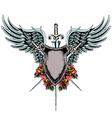 heraldic shield emblem vector image