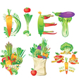 diet menu concept vector image