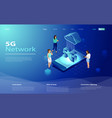 5g network technology in isometric vector image vector image