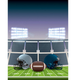 american football stadium vector image vector image