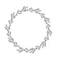 autumn botanical oval frame wreath on white vector image vector image