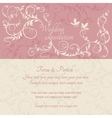 Baroque wedding invitation pink and beige vector image vector image