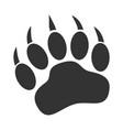 bear paw print icon on white background claw