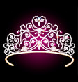 beautiful diadem crown female with glitter on a vector image vector image