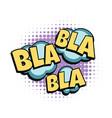 bla comic word vector image vector image