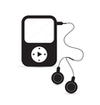 Black Mp3 Player vector image vector image