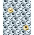 bolts and screws 3d pattern vector image vector image