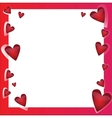 Bright frame - in love vector image vector image