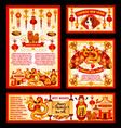 chinese new year china decorations greeting vector image vector image