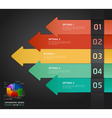colorful arrow number options banner template