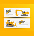 construction machinery banners vector image vector image