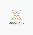 coordinates letter x logo icon template vector image vector image