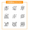 coronavirus prevention 25 icon set blue rip grave vector image vector image
