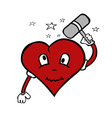 crazy heart vector image vector image