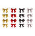 different bows realistic collection isolated on vector image
