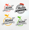 Different menu labels design set lineart concept vector image vector image