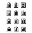 Different windows of buildings vector image vector image