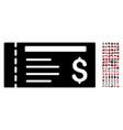 dollar cheque icon with 90 bonus pictograms vector image