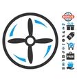 Drone Screw Rotation Icon With Free Bonus vector image vector image