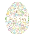 easter egg on white background vector image vector image