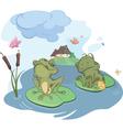 enamored young frog cartoon