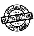 extended warranty round grunge black stamp vector image vector image