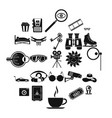 eyeglasses icons set simple style vector image vector image