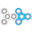 fidget spinner icon vector image
