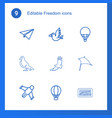 freedom icons vector image vector image