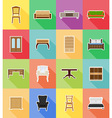 furniture flat icons 18 vector image vector image