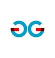 gg company logo template design vector image