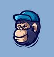 gorilla cartoon mascot logo vector image vector image