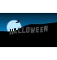 Halloween Hills vector image vector image