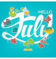 hello July vector image vector image