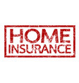 home insurance text home insurance word vector image
