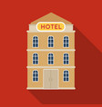 hotel building icon in flat style isolated on vector image vector image